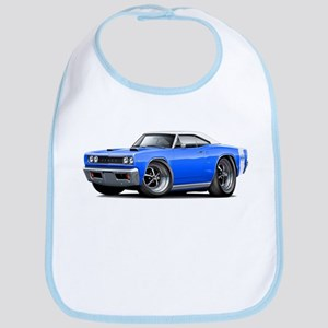 1968 Super Bee Blue-White Car Bib