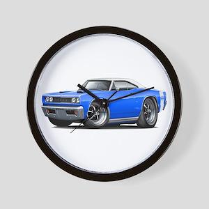 1968 Super Bee Blue-White Car Wall Clock