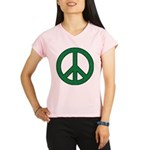 Green Peace Sign Performance Dry T-Shirt