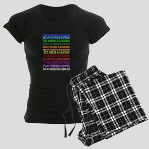 Christmas Women's Dark Pajamas