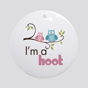 I'm A Hoot Ornament (Round)