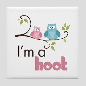 I'm A Hoot Tile Coaster