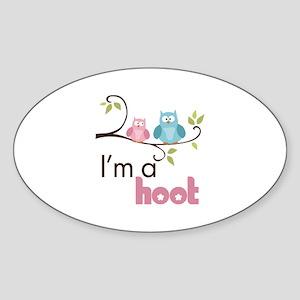 I'm A Hoot Sticker (Oval)