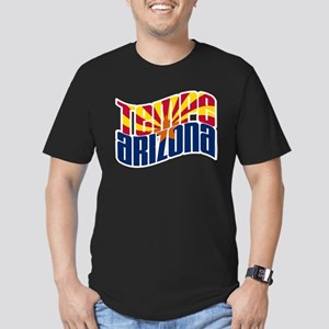 Tempe AZ Flag Men's Fitted T-Shirt (dark)