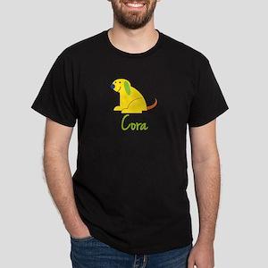 Cora Loves Puppies Dark T-Shirt