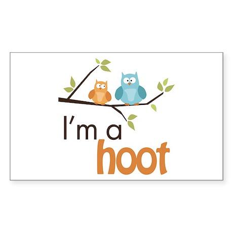 I'm A Hoot Sticker (Rectangle)