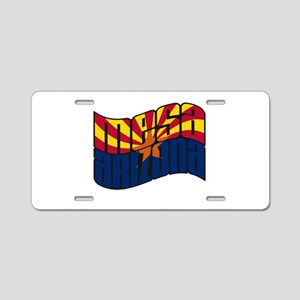 Mesa AZ Flag Aluminum License Plate