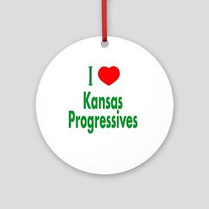 I Love Kansas Progressives Ornament (Round)