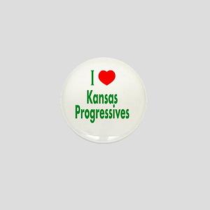 I Love Kansas Progressives Mini Button