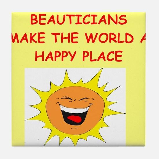 beautician Tile Coaster