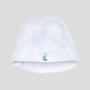 Grandma's Little Peanut - blue baby hat