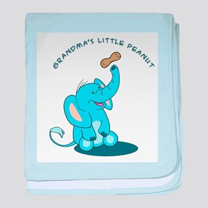 Grandma's Little Peanut - blue baby blanket