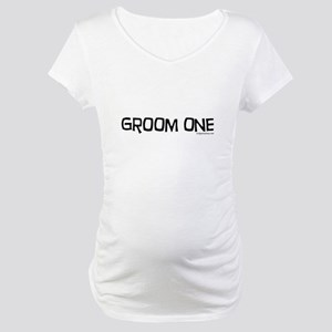 Groom one funny wedding Maternity T-Shirt