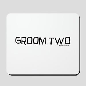 Groom two funny wedding Mousepad
