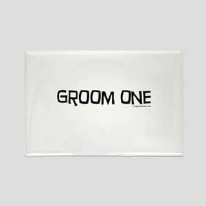 Groom one funny wedding Rectangle Magnet