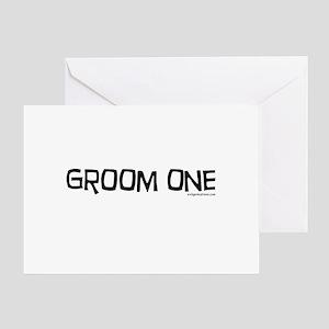 Groom one funny wedding Greeting Card