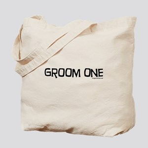 Groom one funny wedding Tote Bag