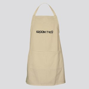 Groom two funny wedding Apron
