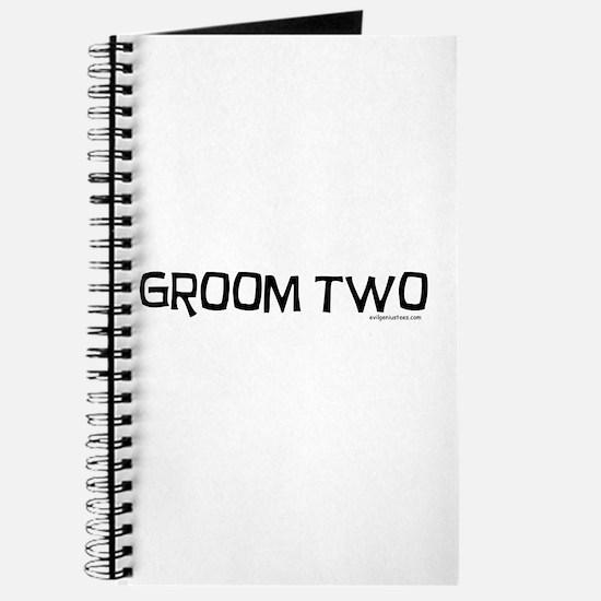 Groom two funny wedding Journal
