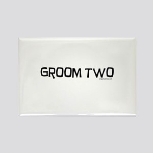 Groom two funny wedding Rectangle Magnet