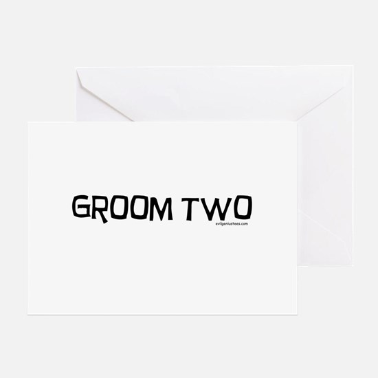 Groom two funny wedding Greeting Card