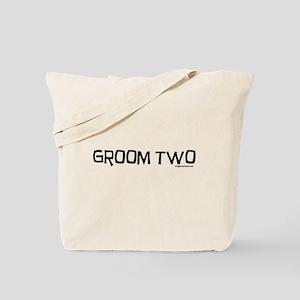 Groom two funny wedding Tote Bag