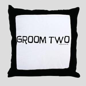 Groom two funny wedding Throw Pillow