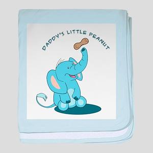Daddy's Little Peanut - blue baby blanket