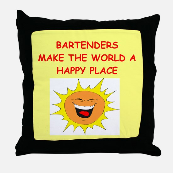 bartenders Throw Pillow