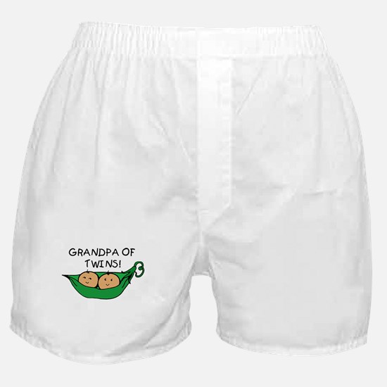 Grandpa of Twins Pod Boxer Shorts