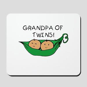 Grandpa of Twins Pod Mousepad