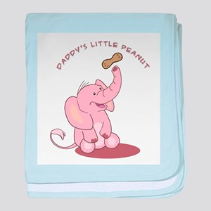 Daddy's Little Peanut - Pink baby blanket