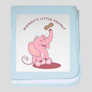 Mommy's Little Peanut - Pink baby blanket