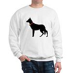 Christmas or Holiday German Shepherd Silhouette Sw