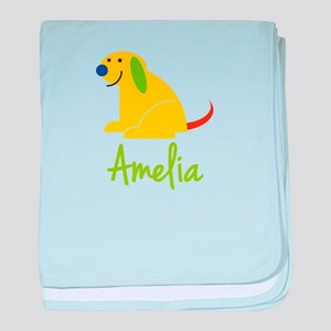 Amelia Loves Puppies baby blanket
