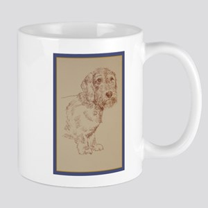 Wirehaired Dachshund Dog Art Mug