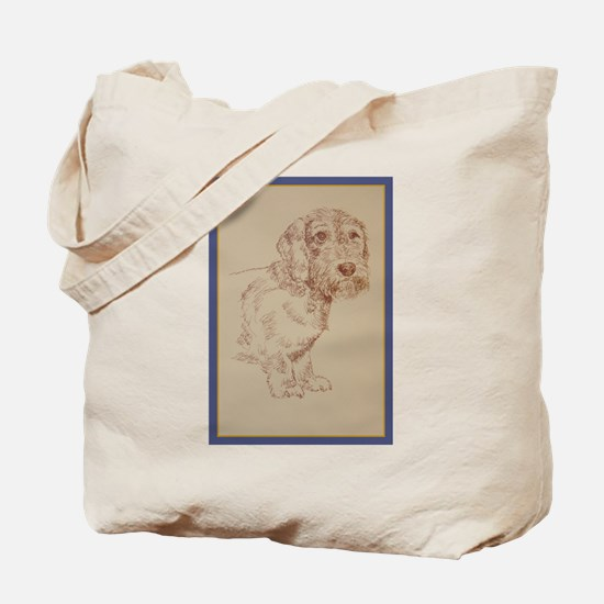 Wirehaired Dachshund Dog Art Tote Bag