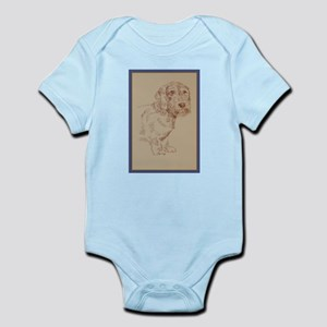 Wirehaired Dachshund Dog Art Infant Bodysuit