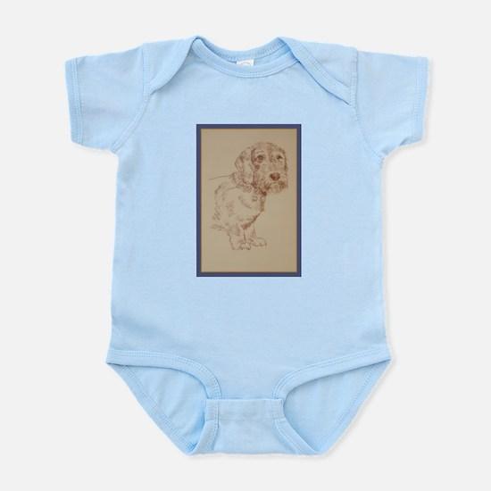 Wirehaired Dachshund Dog Art Infant Bodysuit