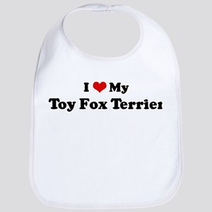 I Love Toy Fox Terrier Bib