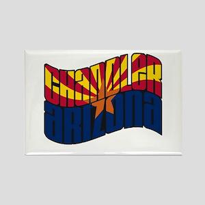 Chandler AZ Flag Rectangle Magnet
