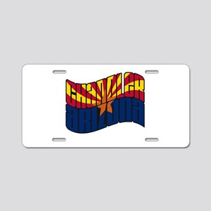 Chandler AZ Flag Aluminum License Plate