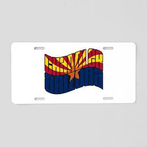 Chandler AZ Flag Aluminum License Plate
