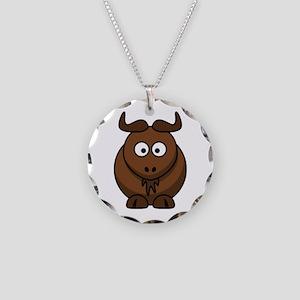 Gnu Necklace Circle Charm