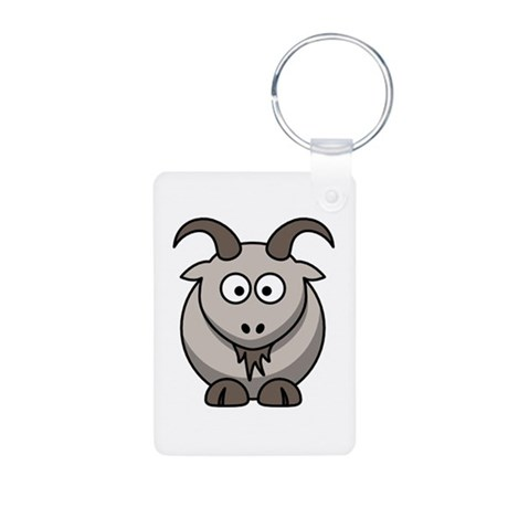 Goat Aluminum Photo Keychain
