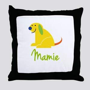 Mamie Loves Puppies Throw Pillow