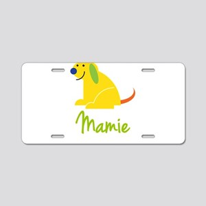 Mamie Loves Puppies Aluminum License Plate