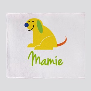 Mamie Loves Puppies Throw Blanket