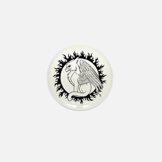 Sun Gryphon Mini Button