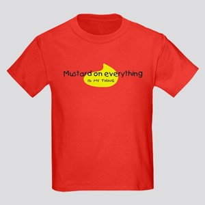 Mustard on Everything Kids Dark T-Shirt